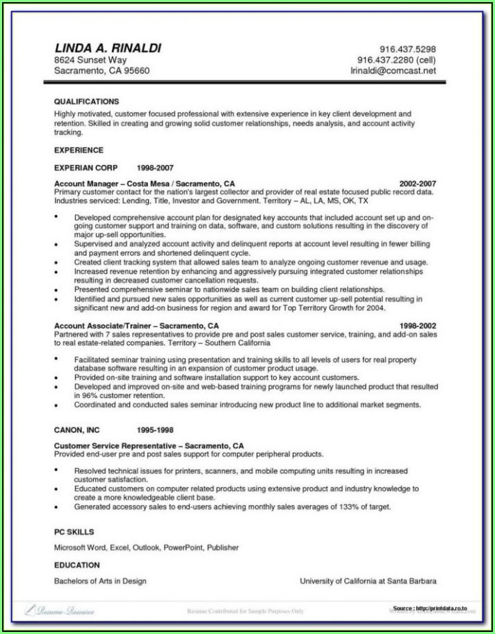 Executive Resume Template Word Download