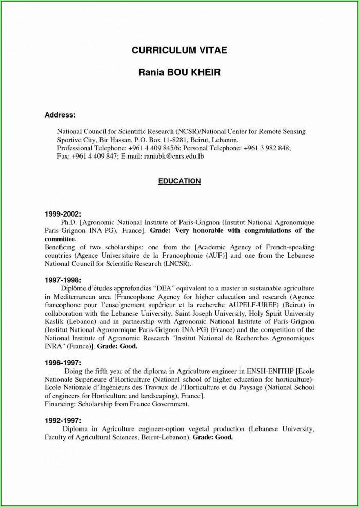 Format Of Cover Letter For Resume
