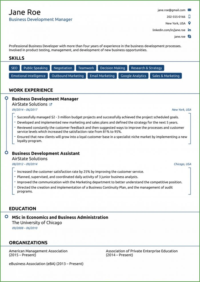 Free Downloadable Resume Templates 2019