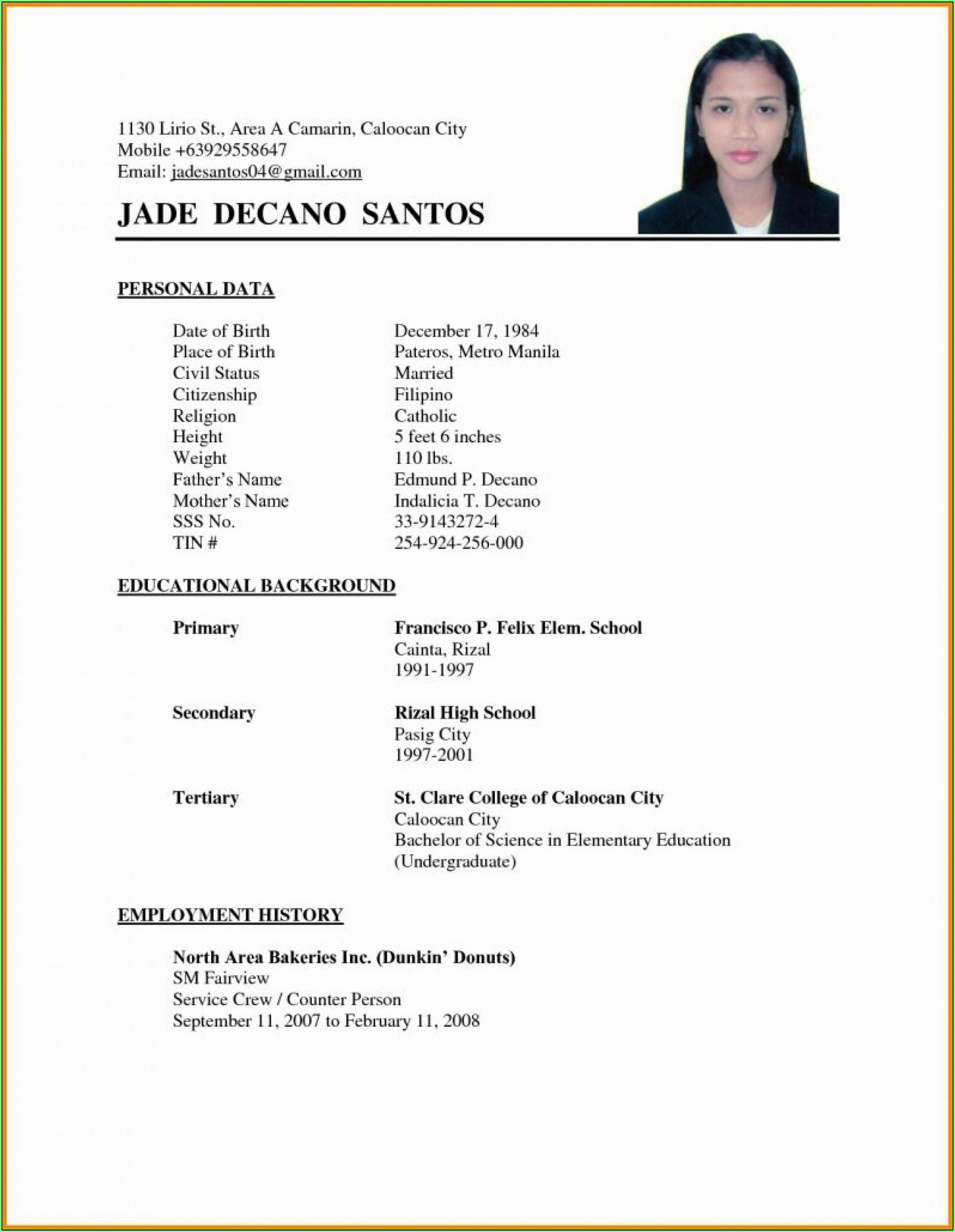 Free Downloadable Resume Templates For Wordpad