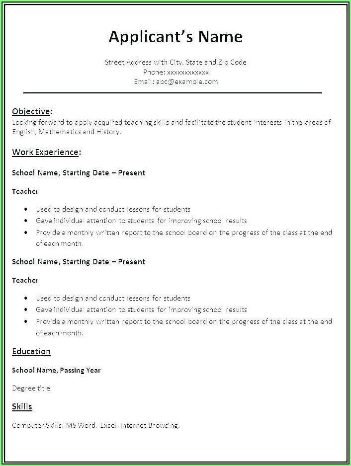 Free Fast Easy Resume Builder