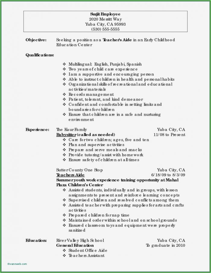 Free High School Resume Template Download