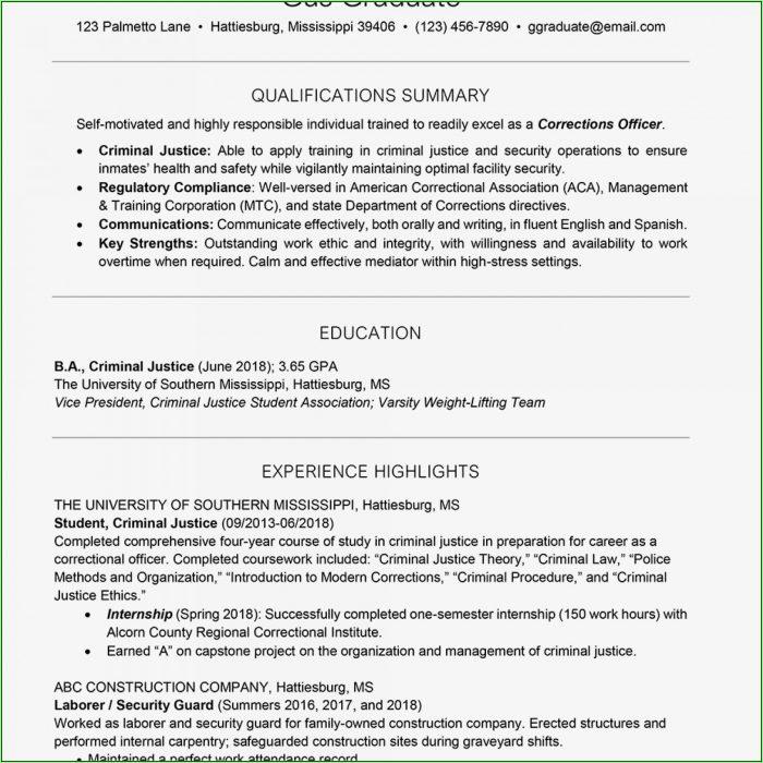 Free Printable High School Resume Template