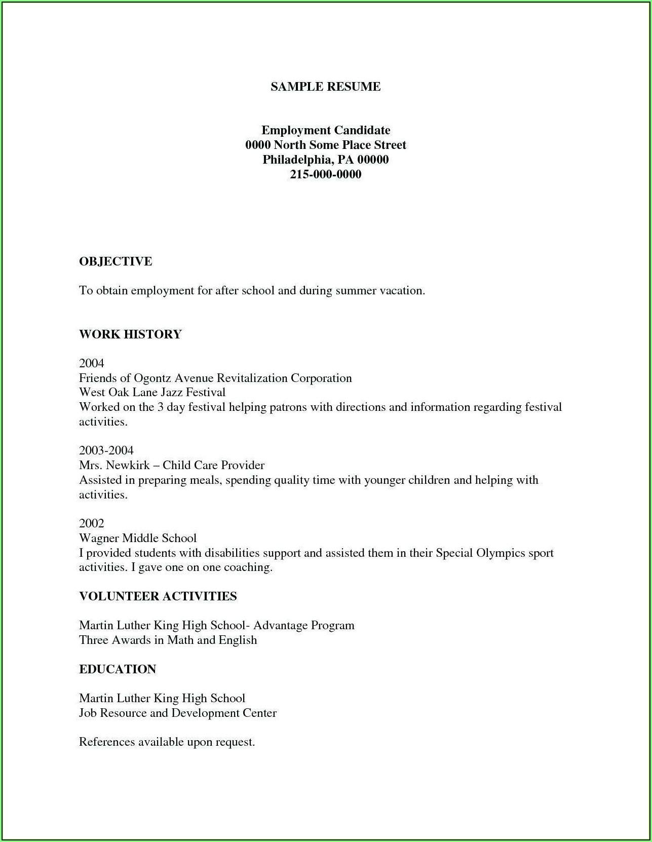 Free Printable Online Resume Creator