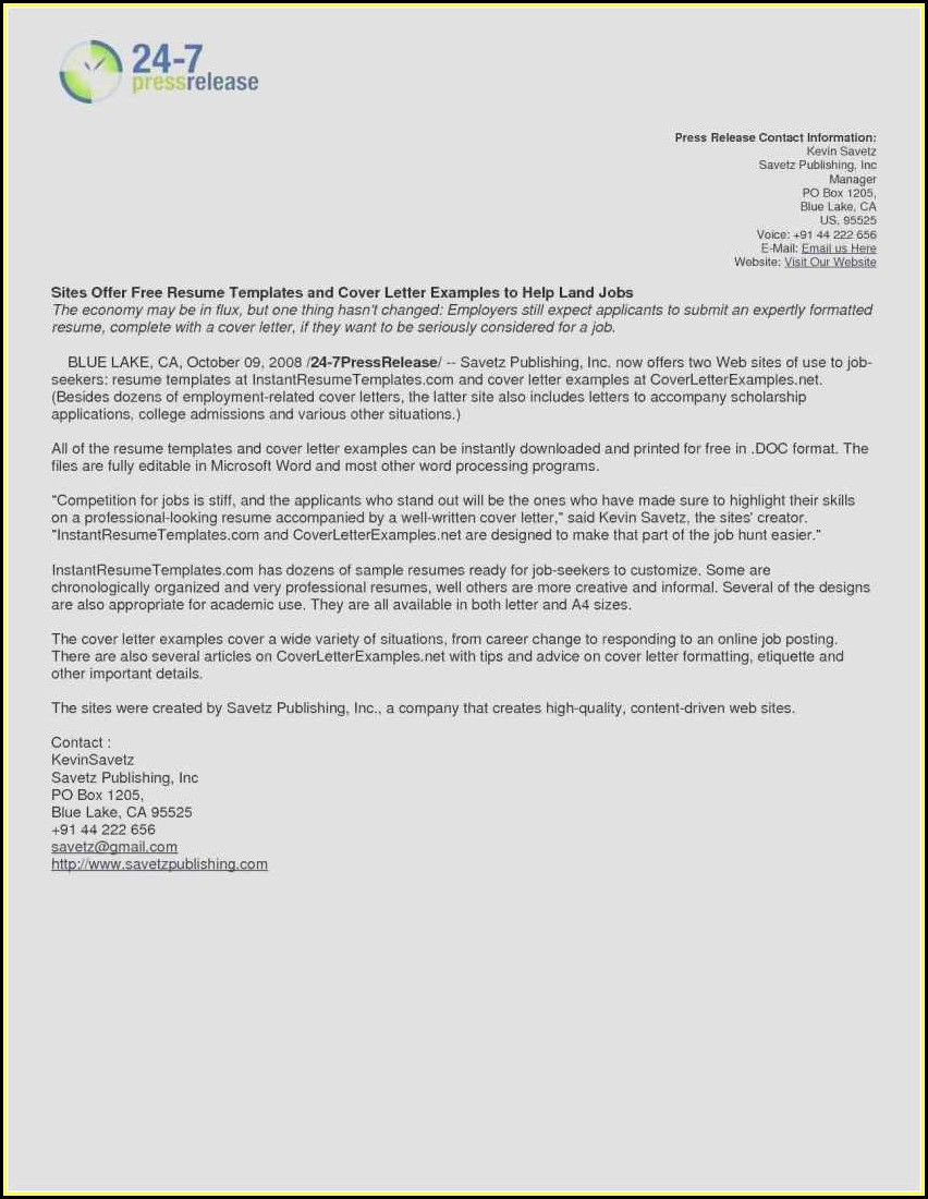 Free Resume Cover Letter Templates Microsoft Word