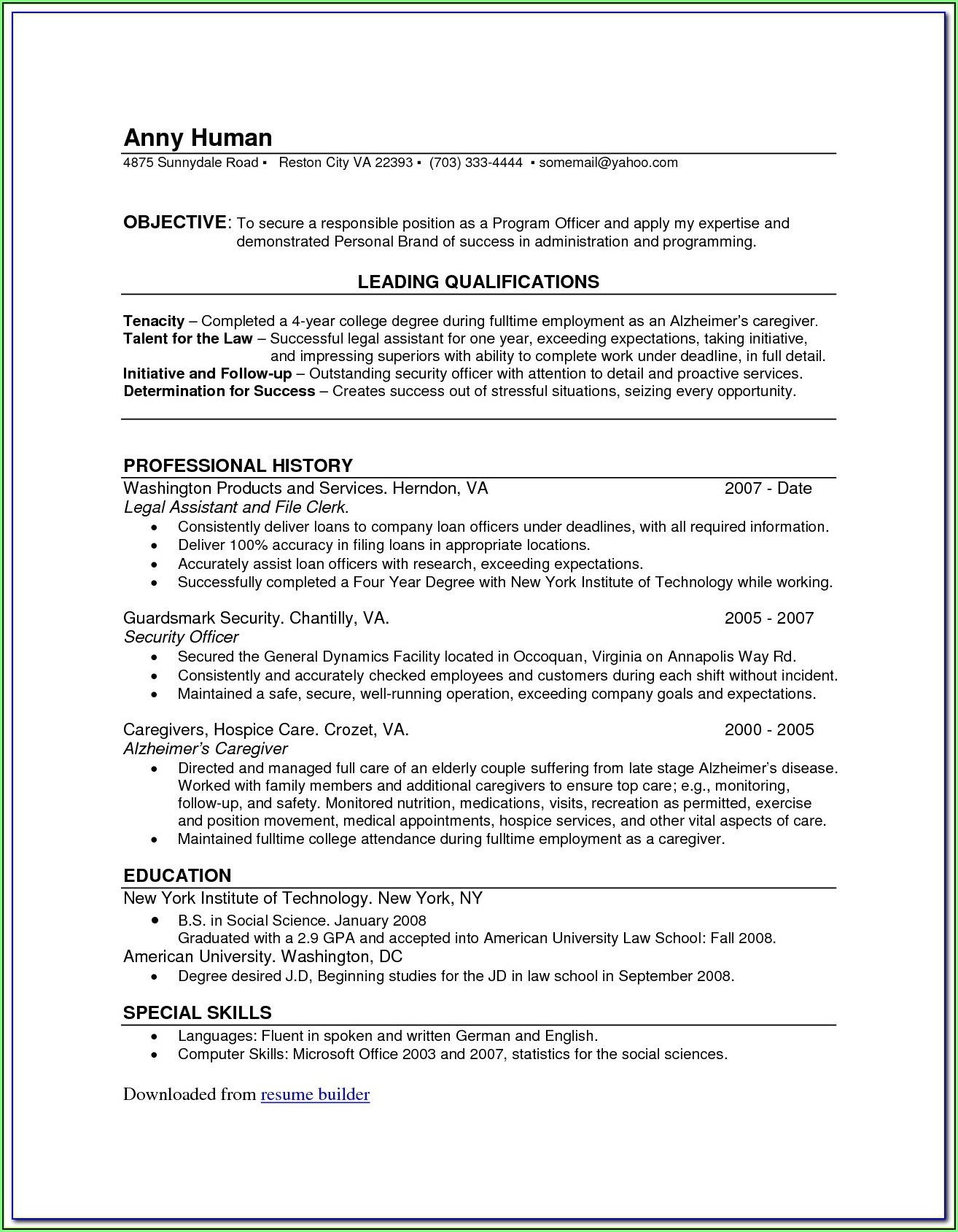 Free Resume Maker Software