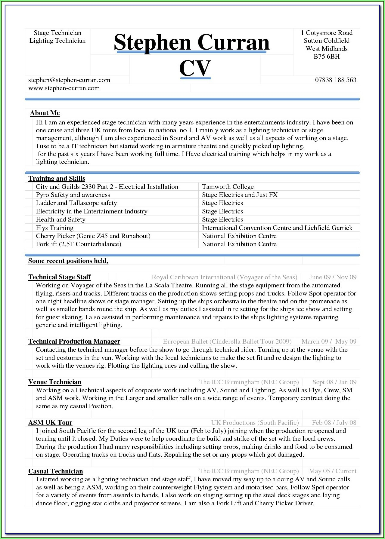 Free Resume Sample Download Word