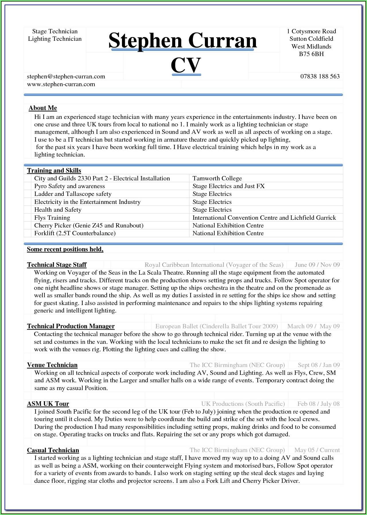 Free Resume Sample Download Word