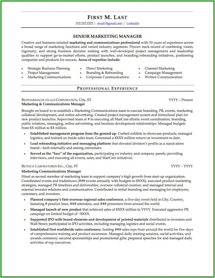 Free Resume Samples Doc
