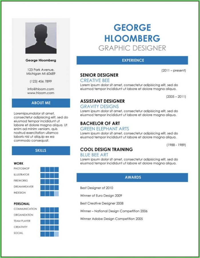 Free Resume Template Download Word