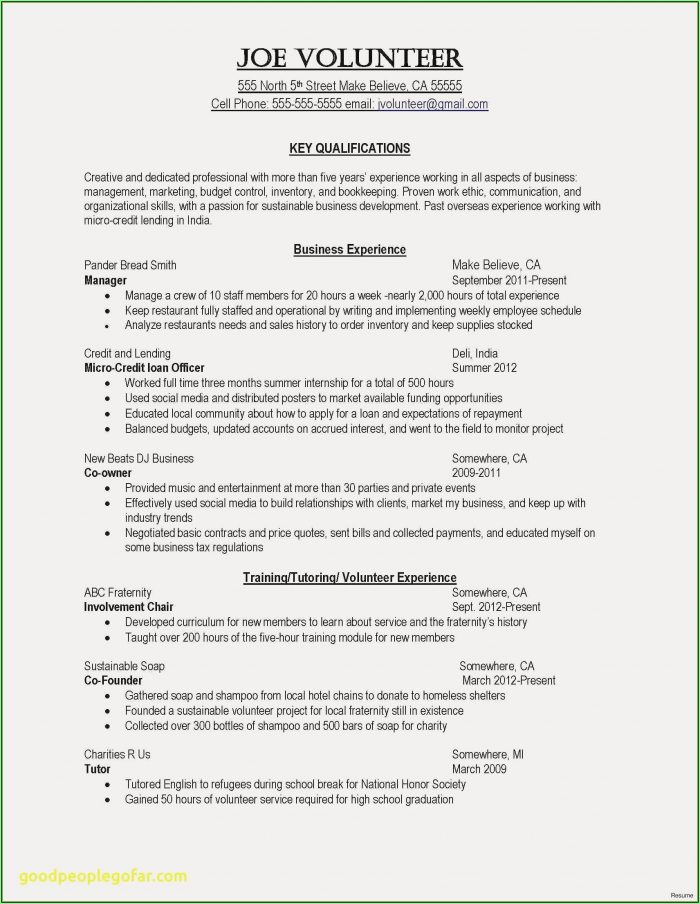 Free Resume Template Nurse