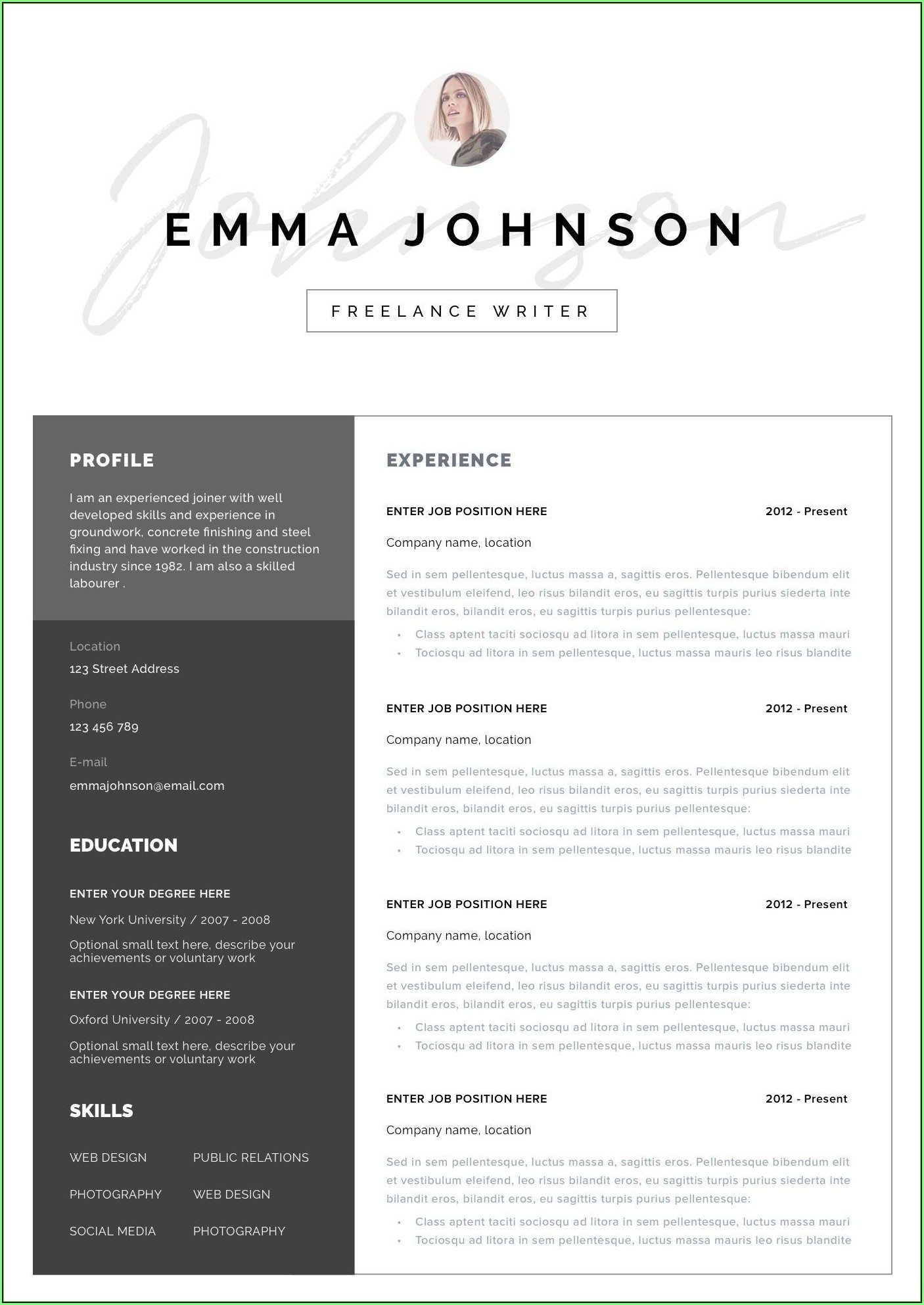 Free Resume Templates For Mac Microsoft Word