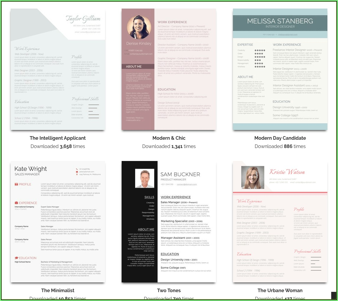 Free Resume Word Templates Microsoft