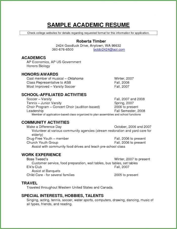 Free Student Resume Builder