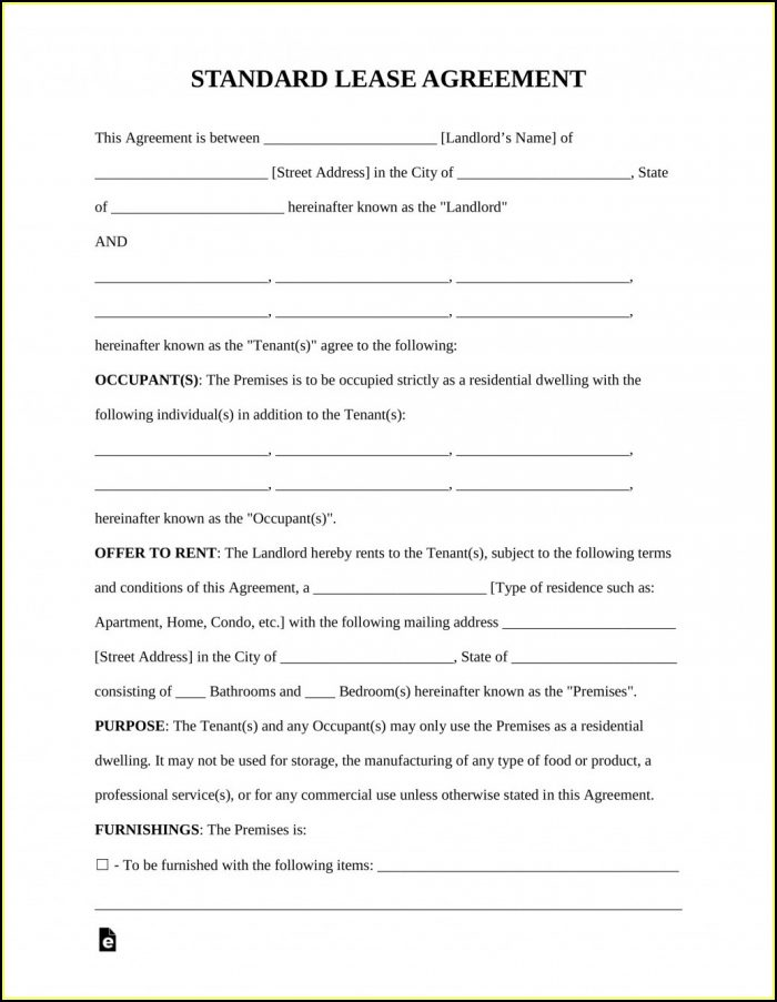 Free Sublet Lease Agreement Template