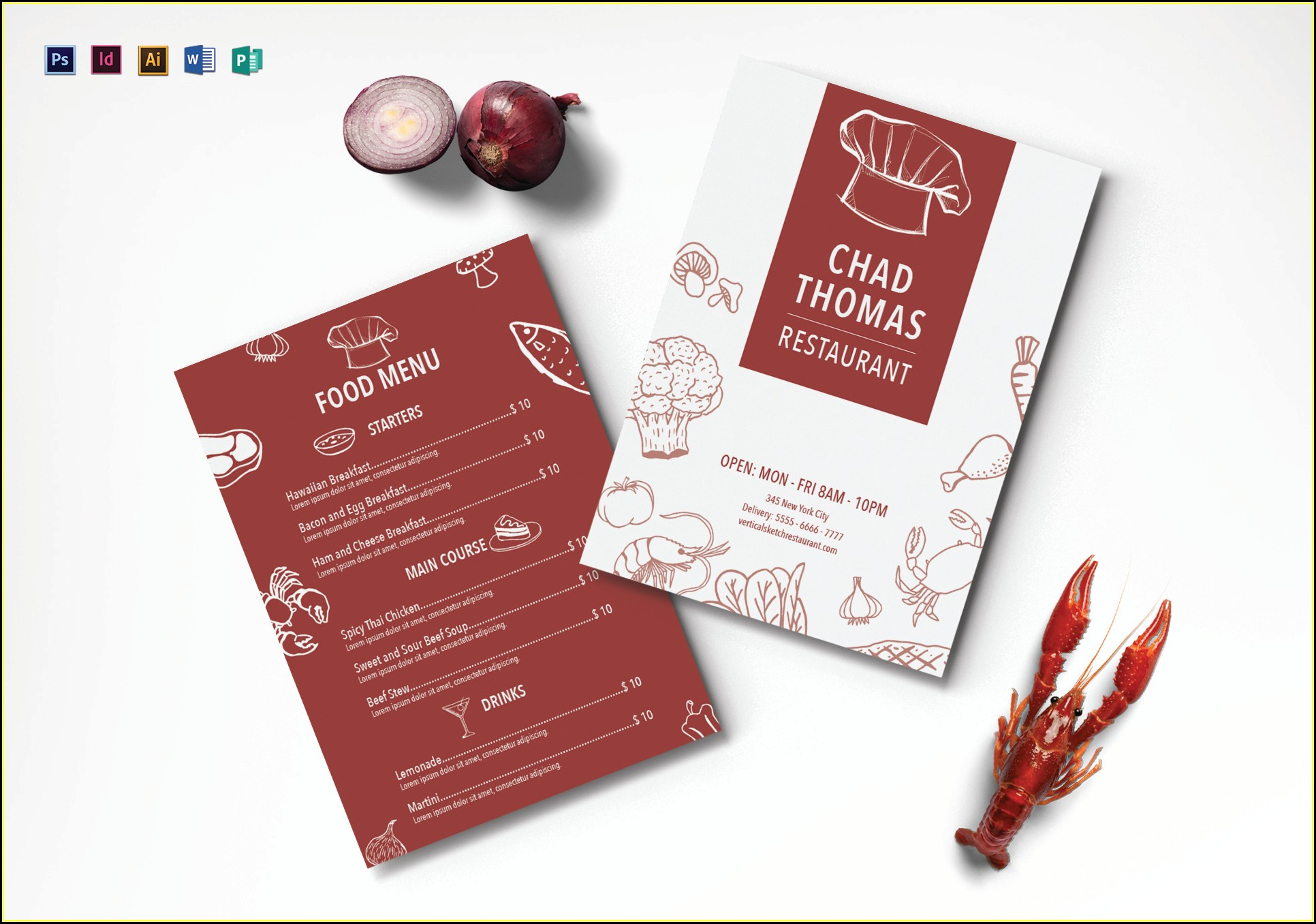 Illustrator Restaurant Menu Template