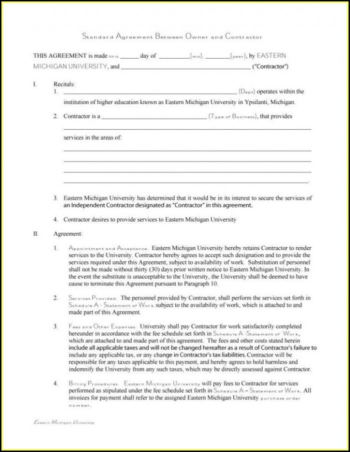 Independent Contractor Agreement Template Ontario