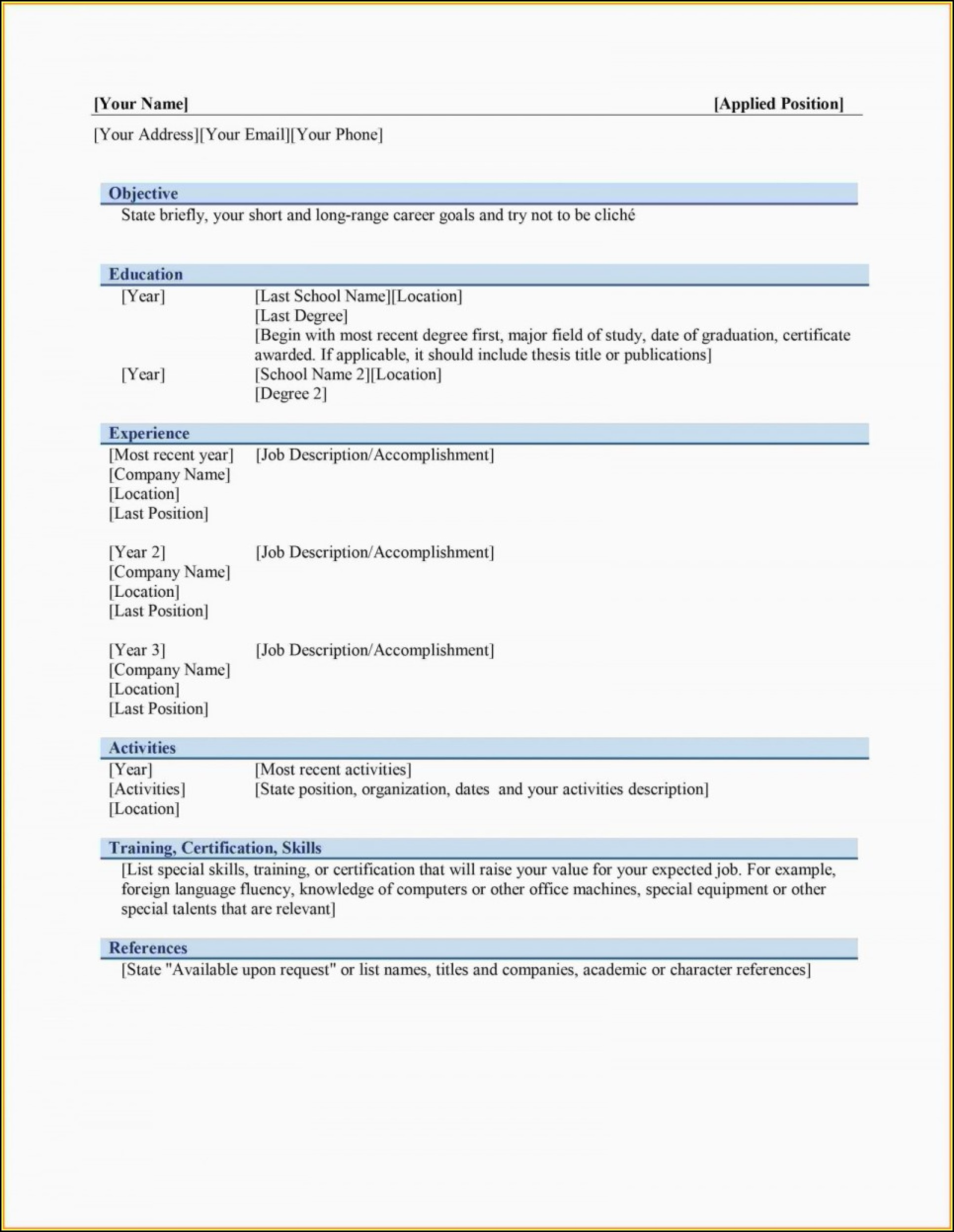 Macbook Pro Resume Template