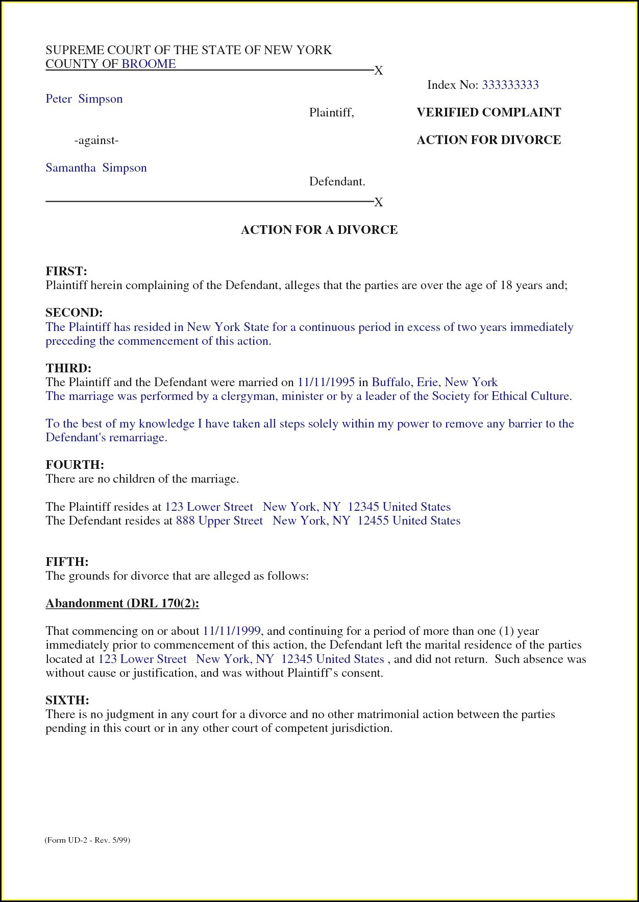 Marriage Separation Agreement Template Free