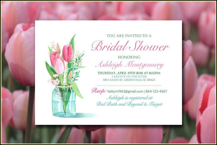 Mason Jar Bridal Shower Invitation Template
