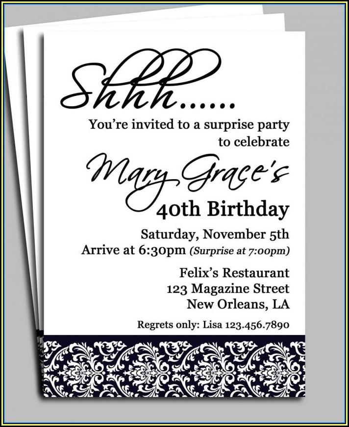 Mason Jar Party Invite Template