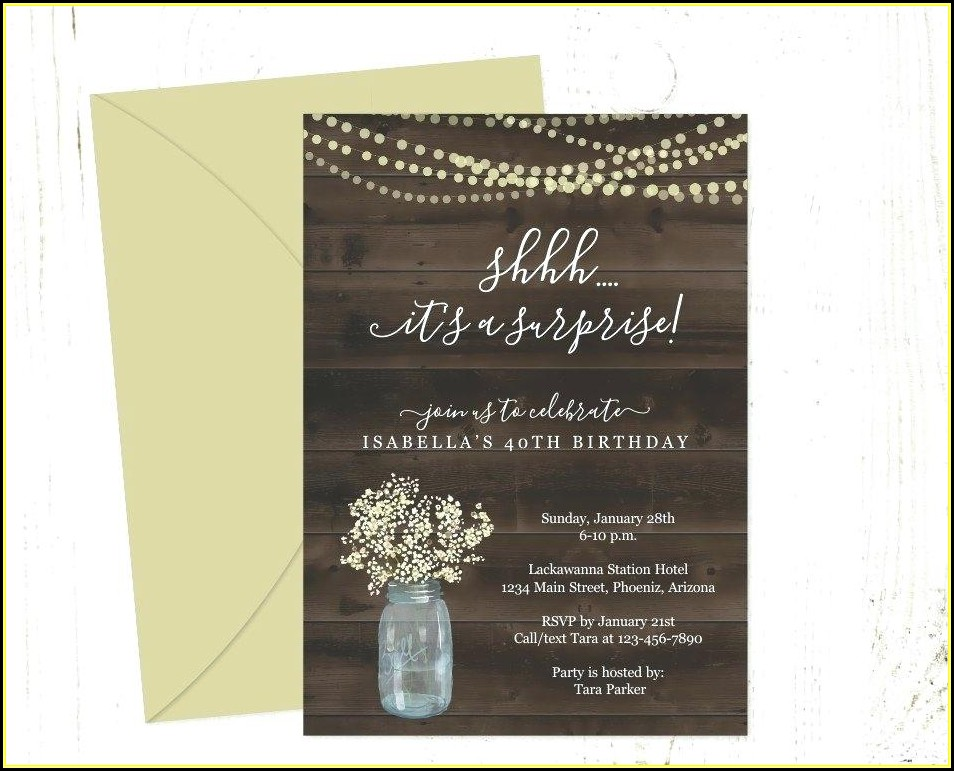 Mason Jar Wedding Invite Template