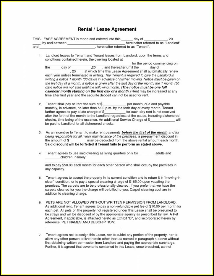 Month To Month Rental Agreement Template Word South Africa
