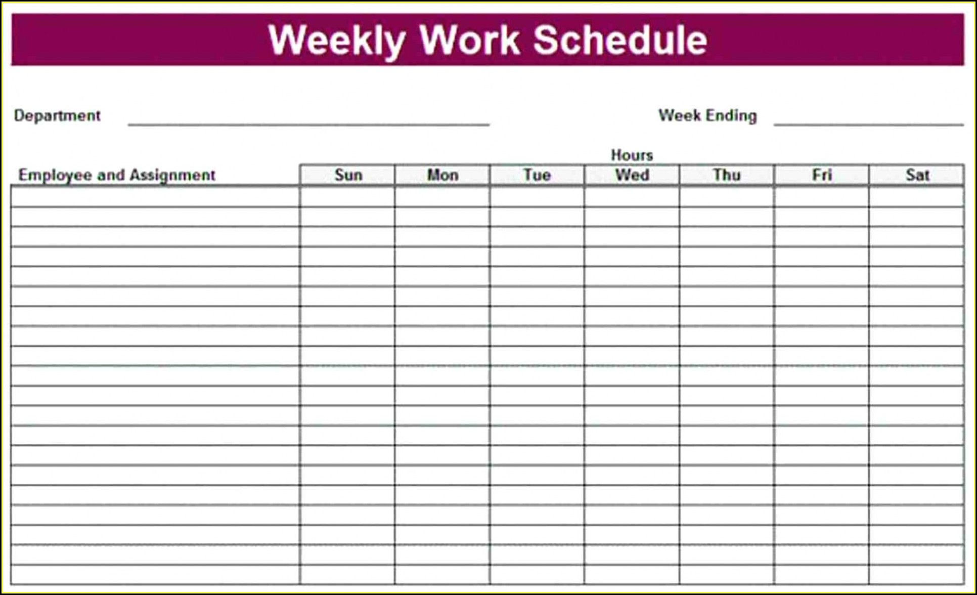 Monthly Rotation Schedule Template