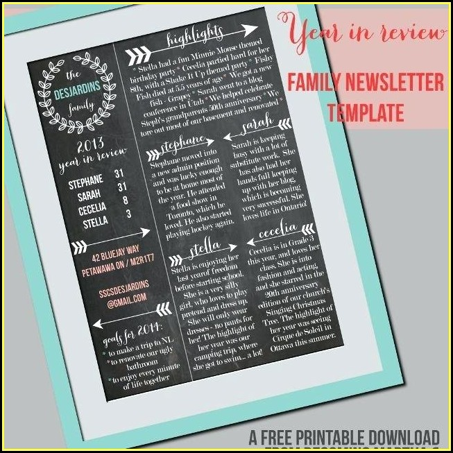 Neighborhood Newsletter Templates Free