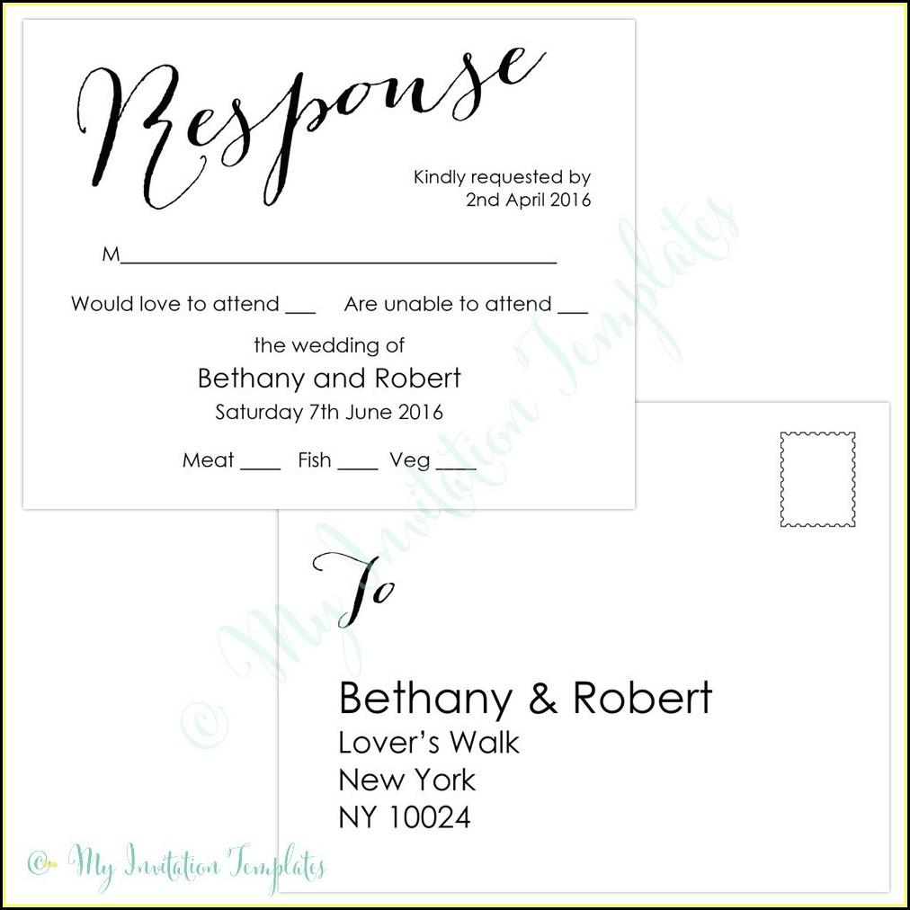 Postcard Rsvp Template Free
