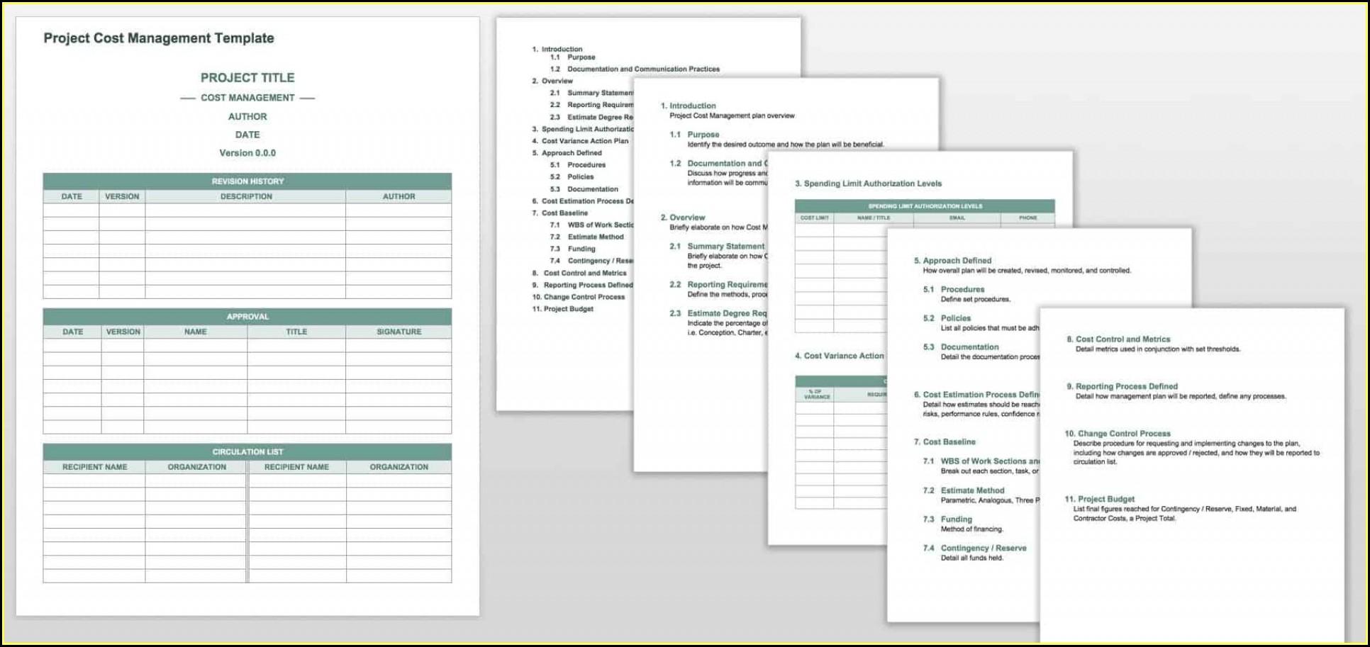 Project Management Templates Doc