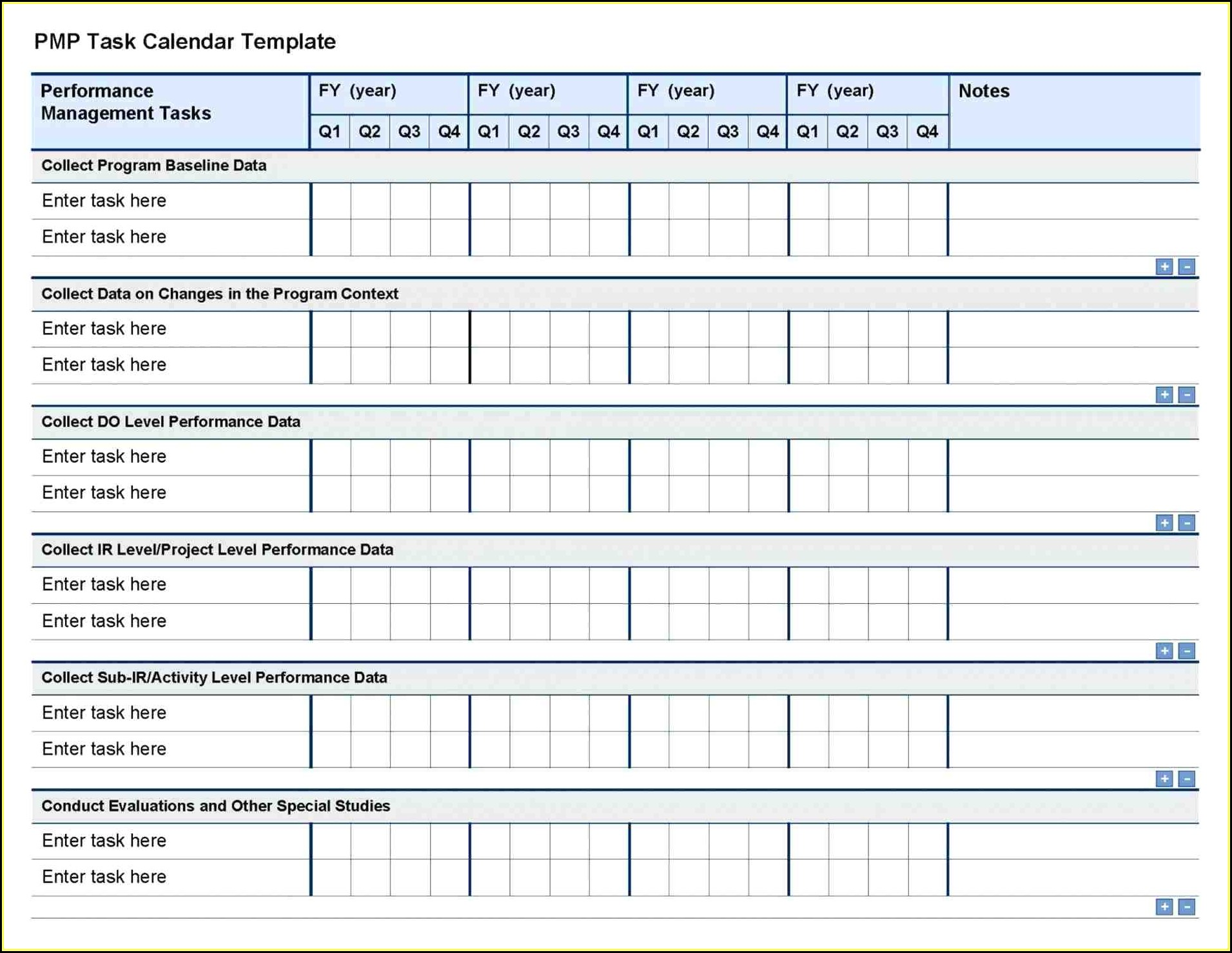 Project Task Template Excel Free