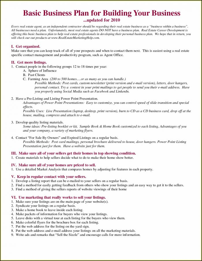 Property Management Business Plan Template Free