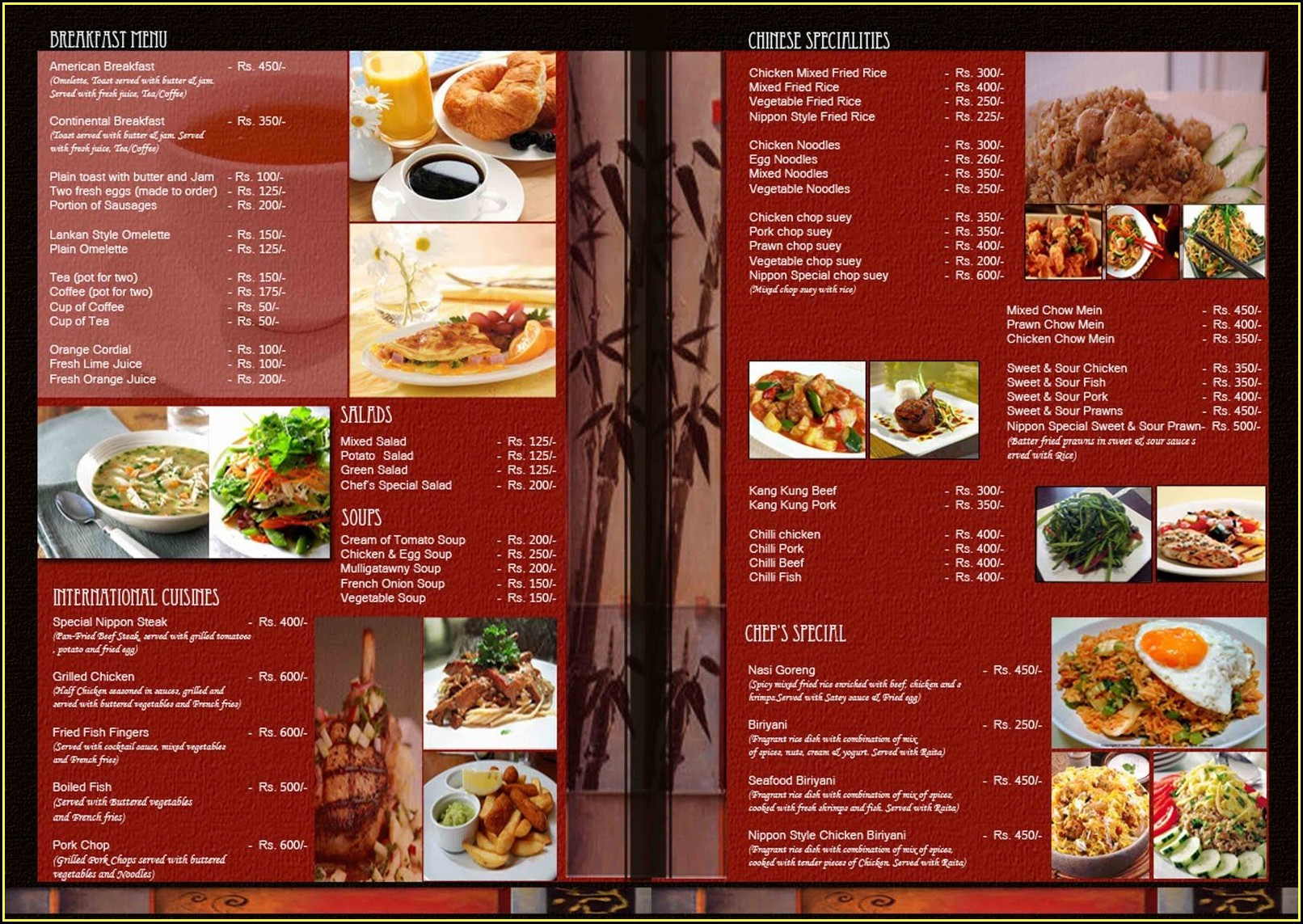 Restaurant Menu Templates Illustrator Free