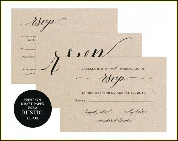Rsvp Postcard Template For Word