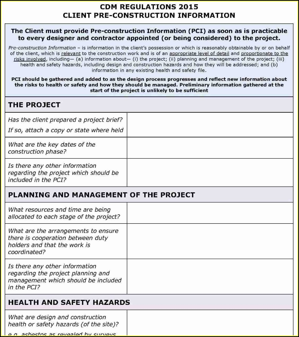 Safety Plan Template Free