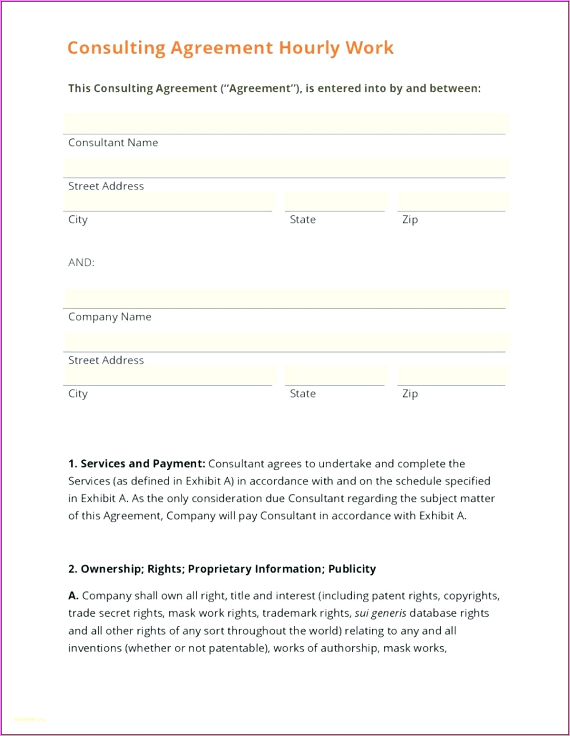 Consultant Agreement Template Australia
