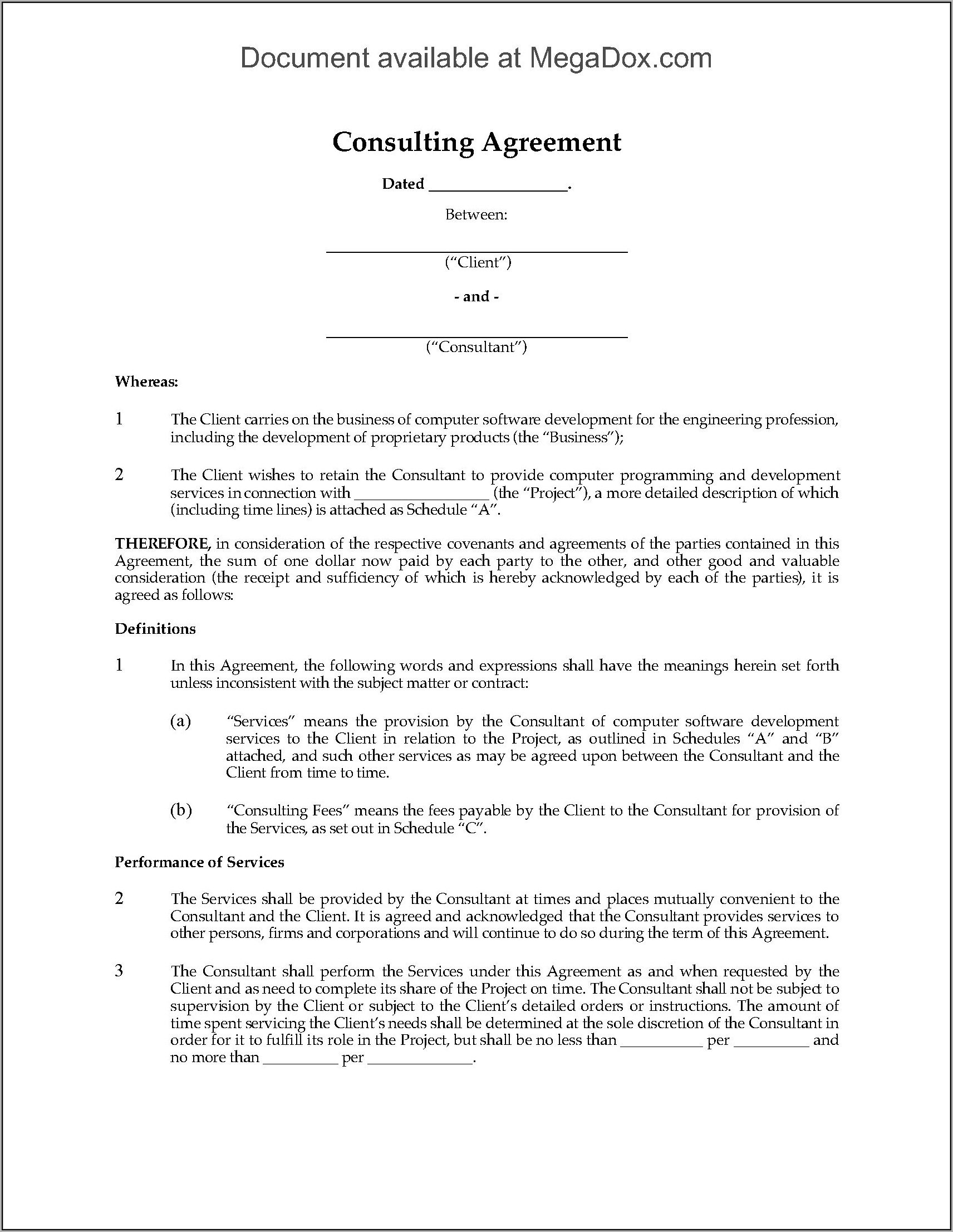 Consulting Agreement Templates