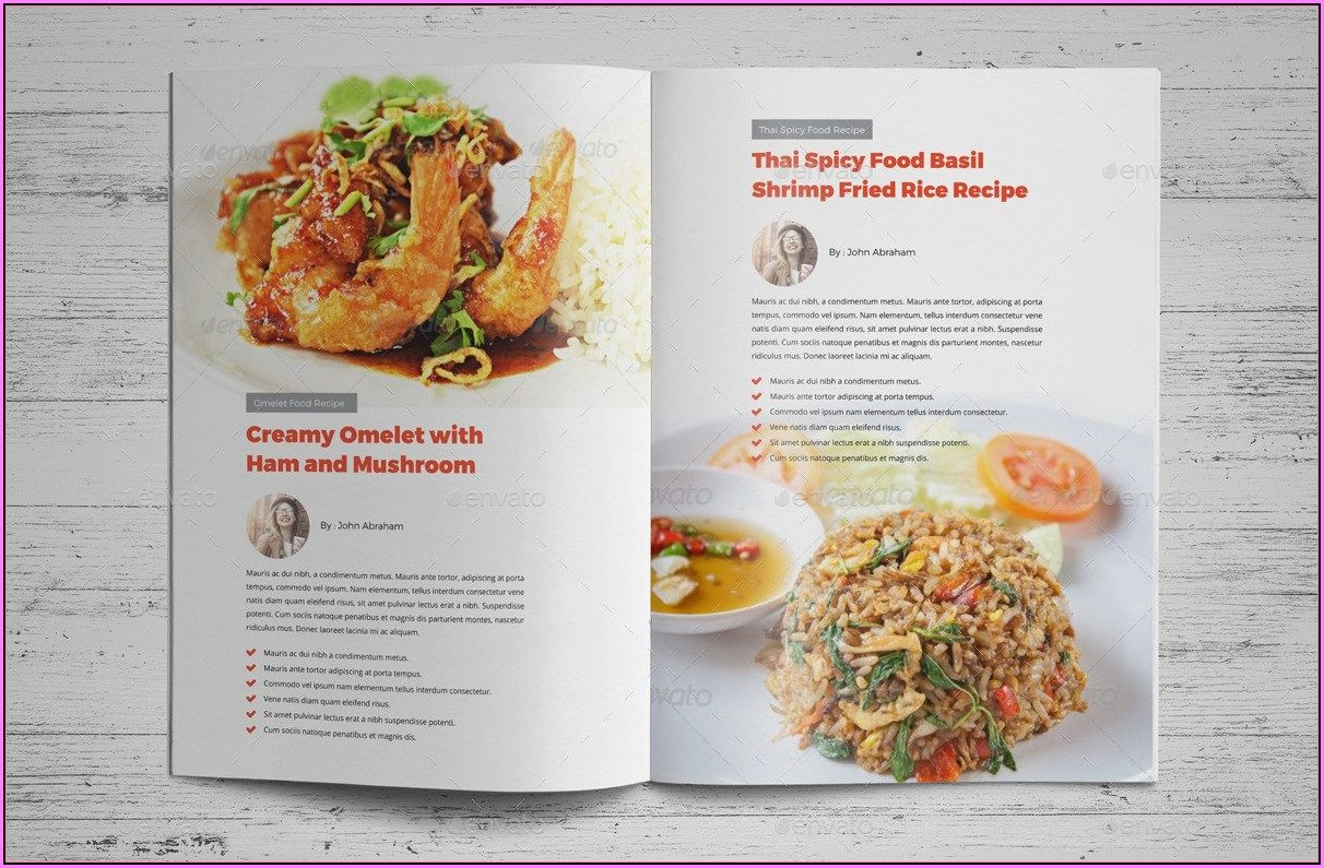 Cookbook Layout Indesign