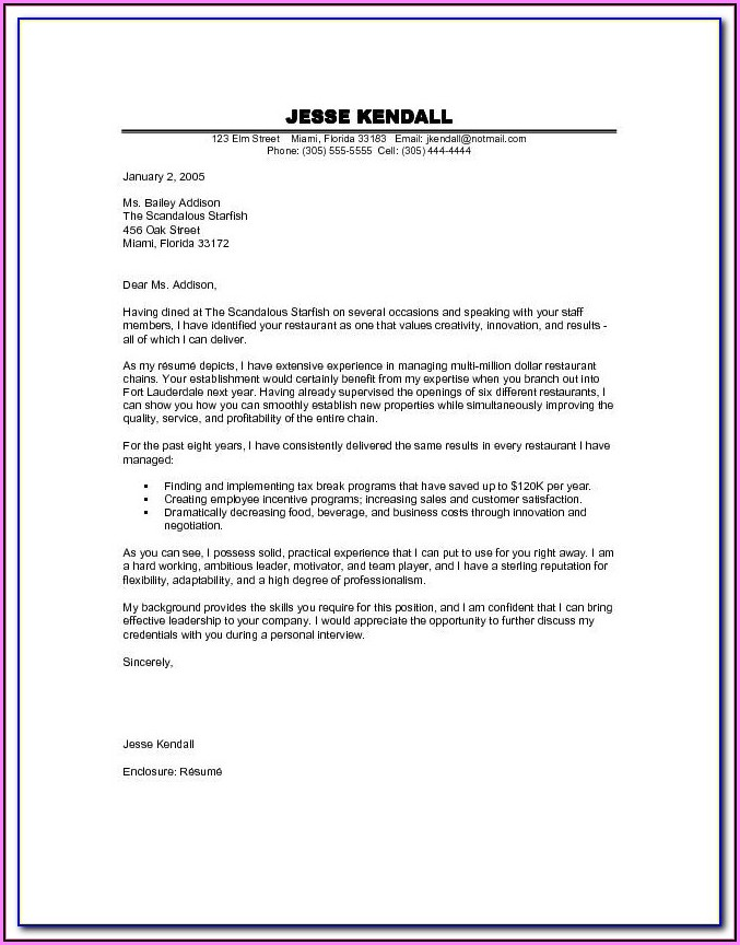 Cover Letter Design Template Free Download