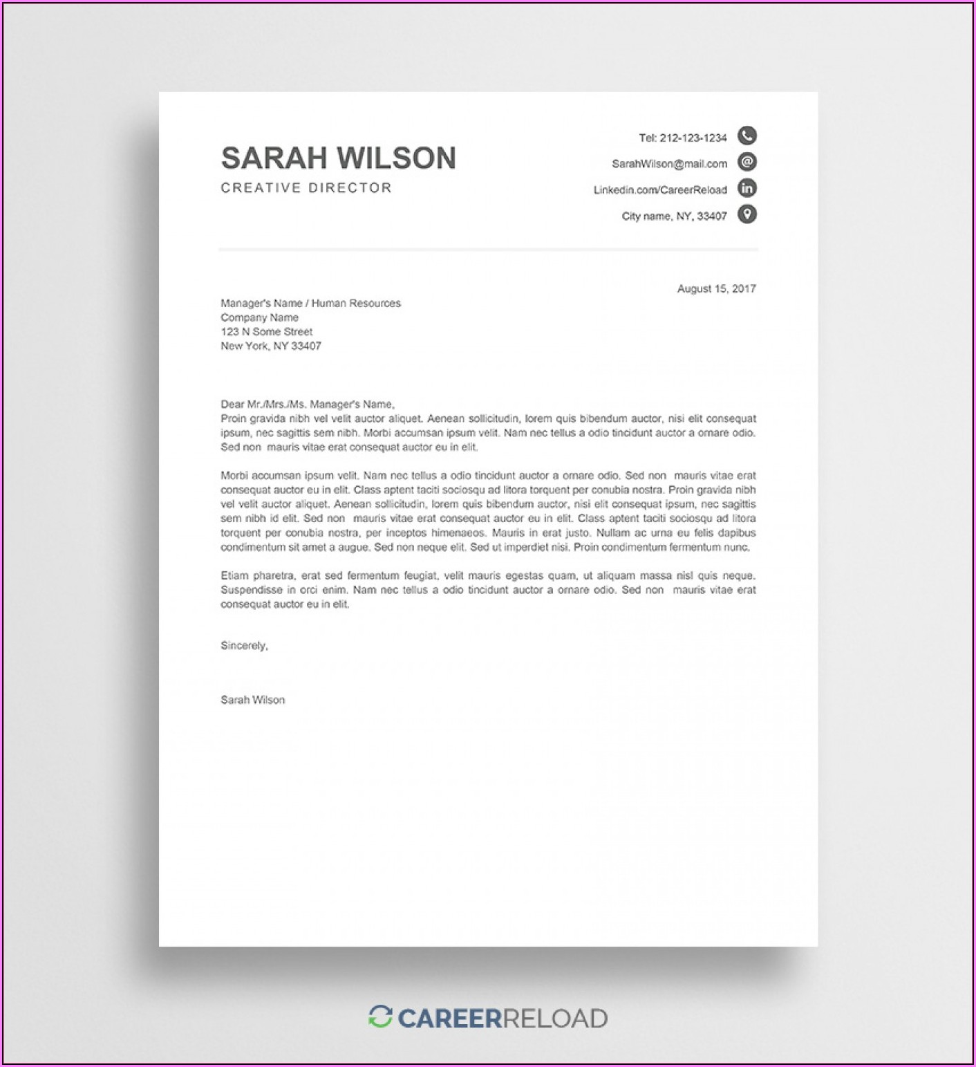 Cover Letter Templates Free Download Word Document