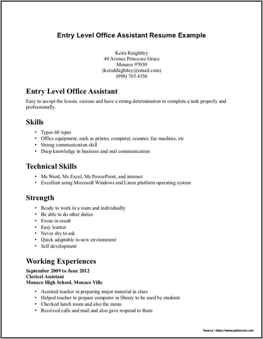 Dental Assistant Resume Templates Word