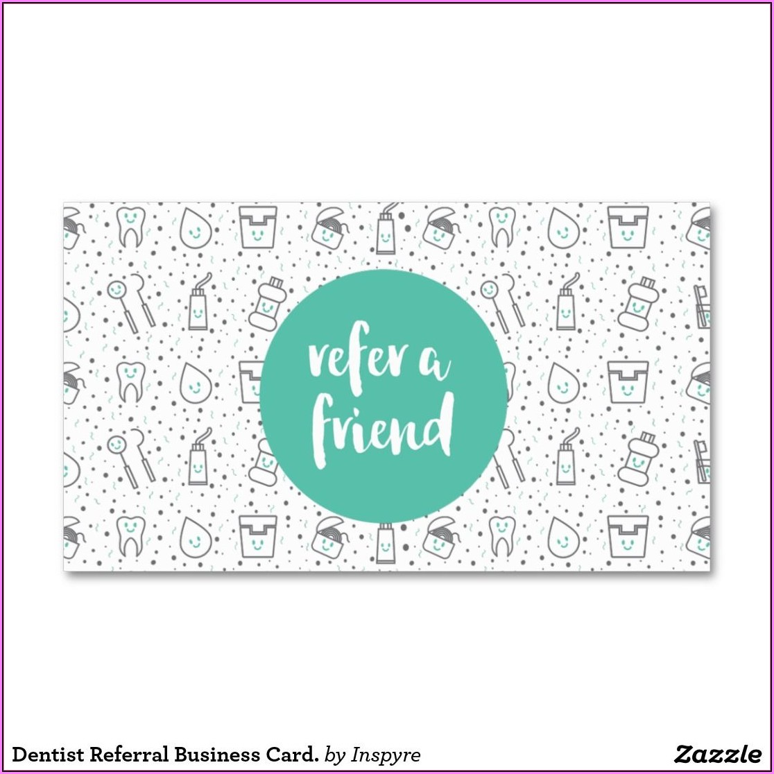Dental Referral Card Template