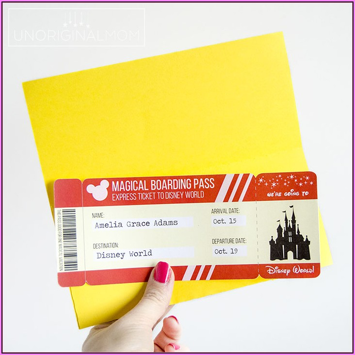 Disneyland Paris Invitation Template Free