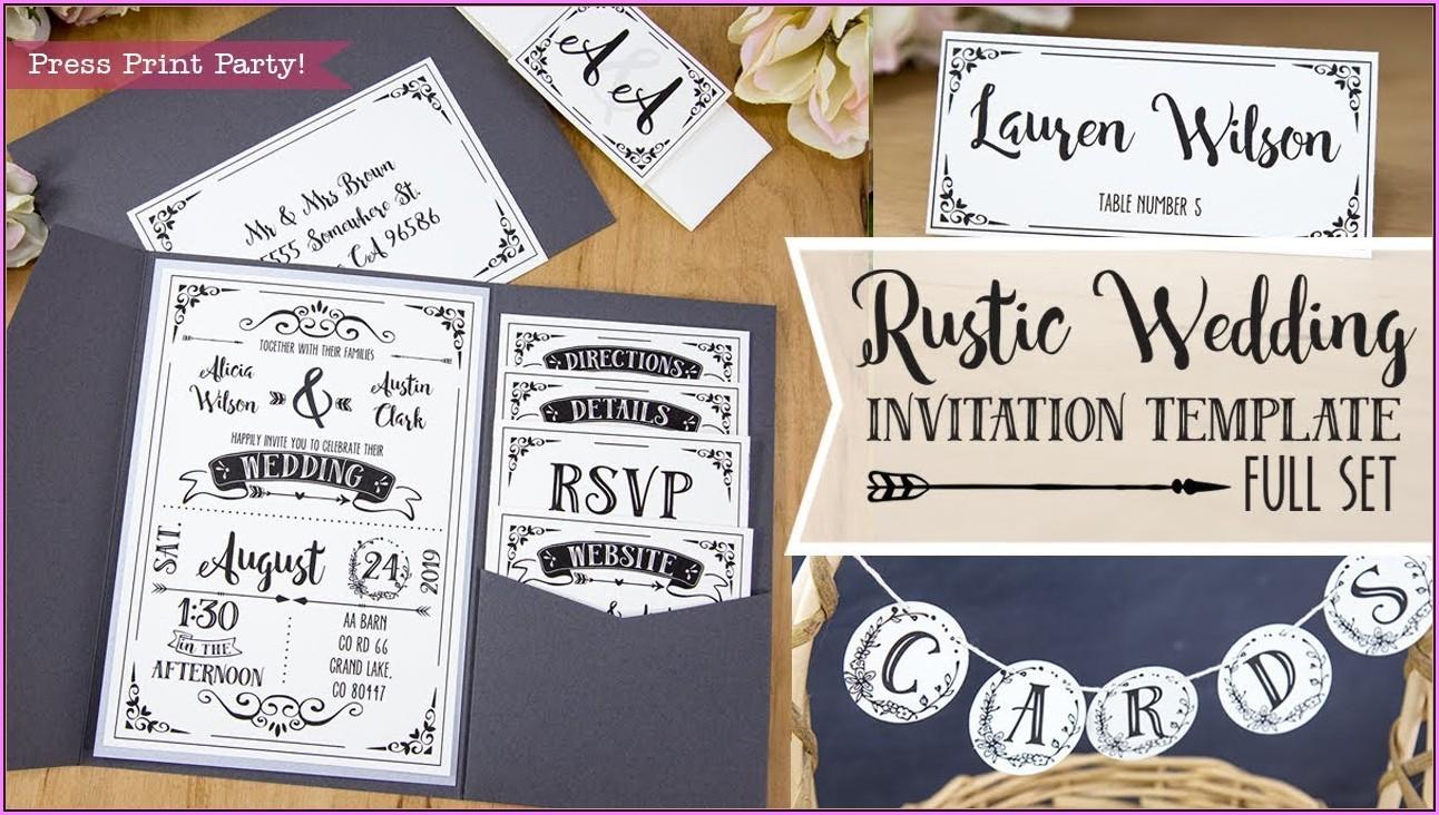 Diy Rsvp Wedding Cards Template