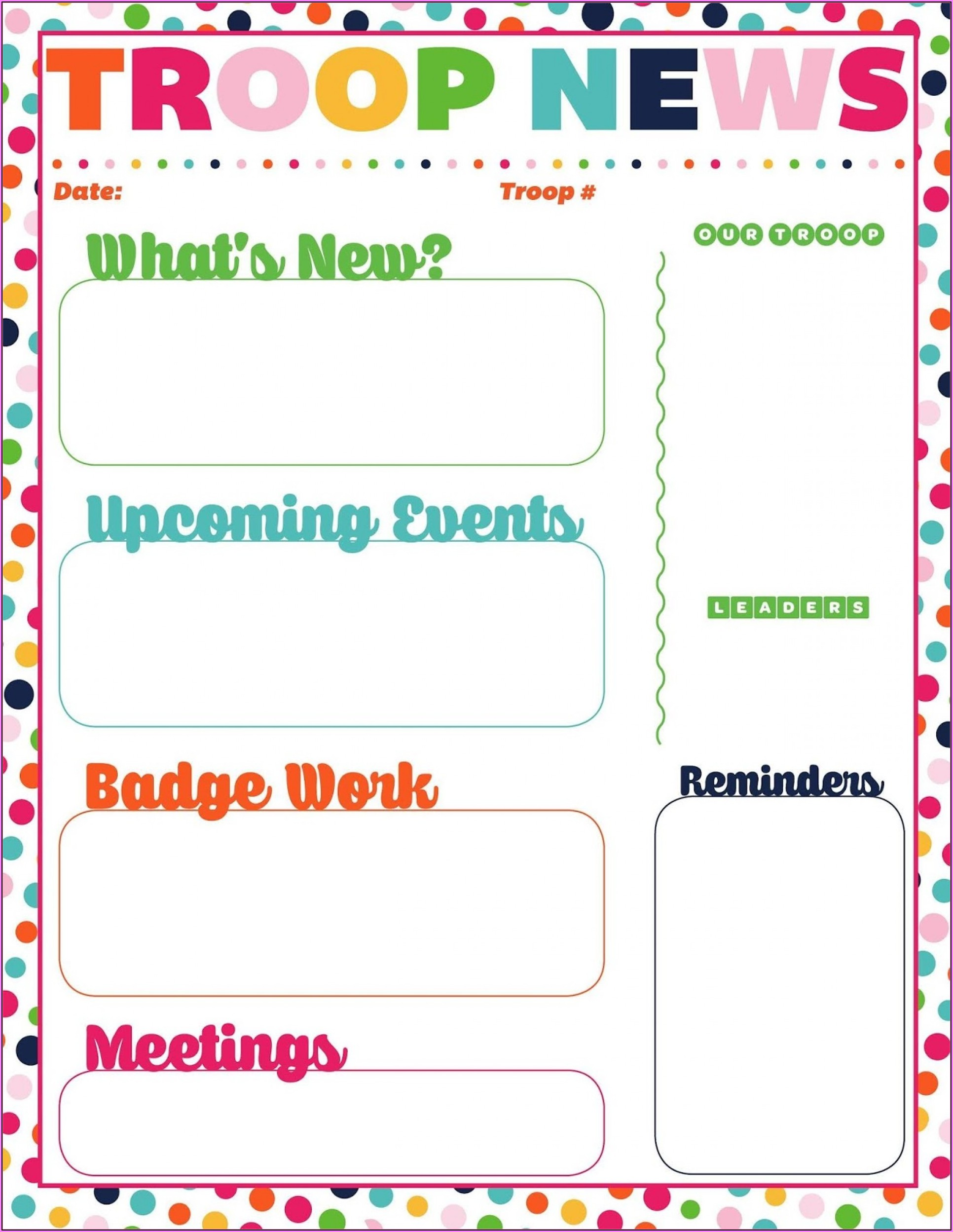 Editable Newsletter Template For Teachers