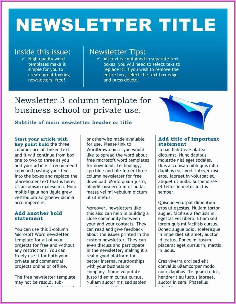 Editable Newsletter Templates Free Download