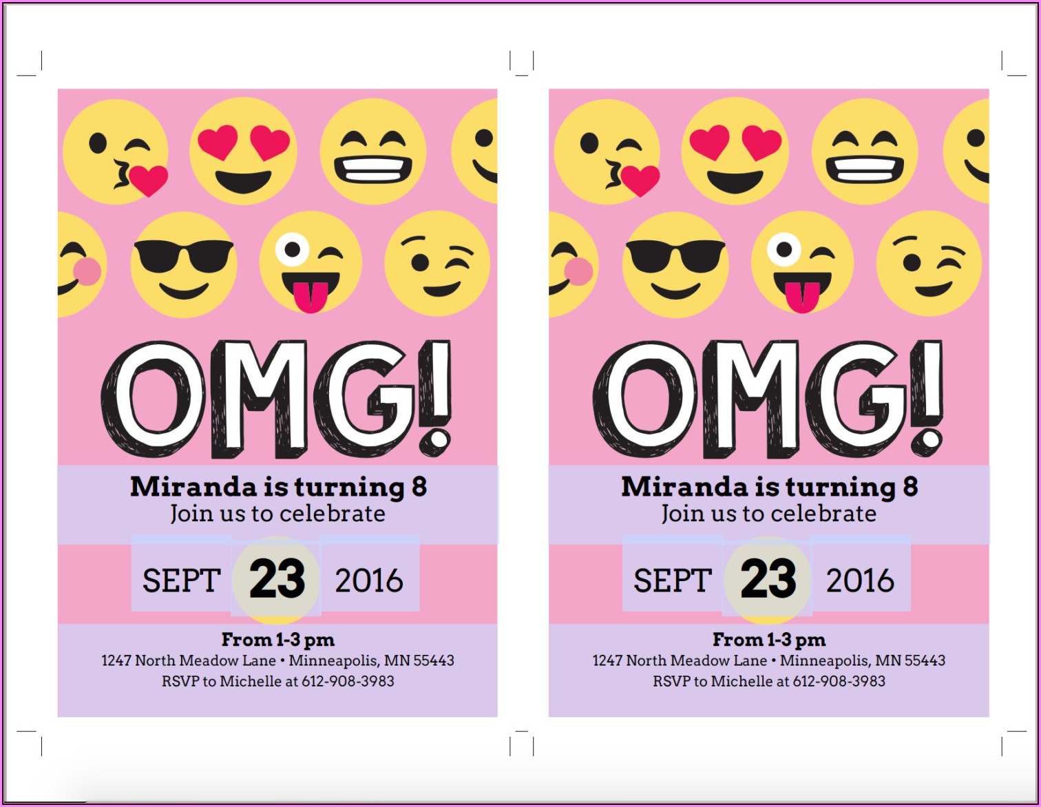 Emoji Birthday Invite Template
