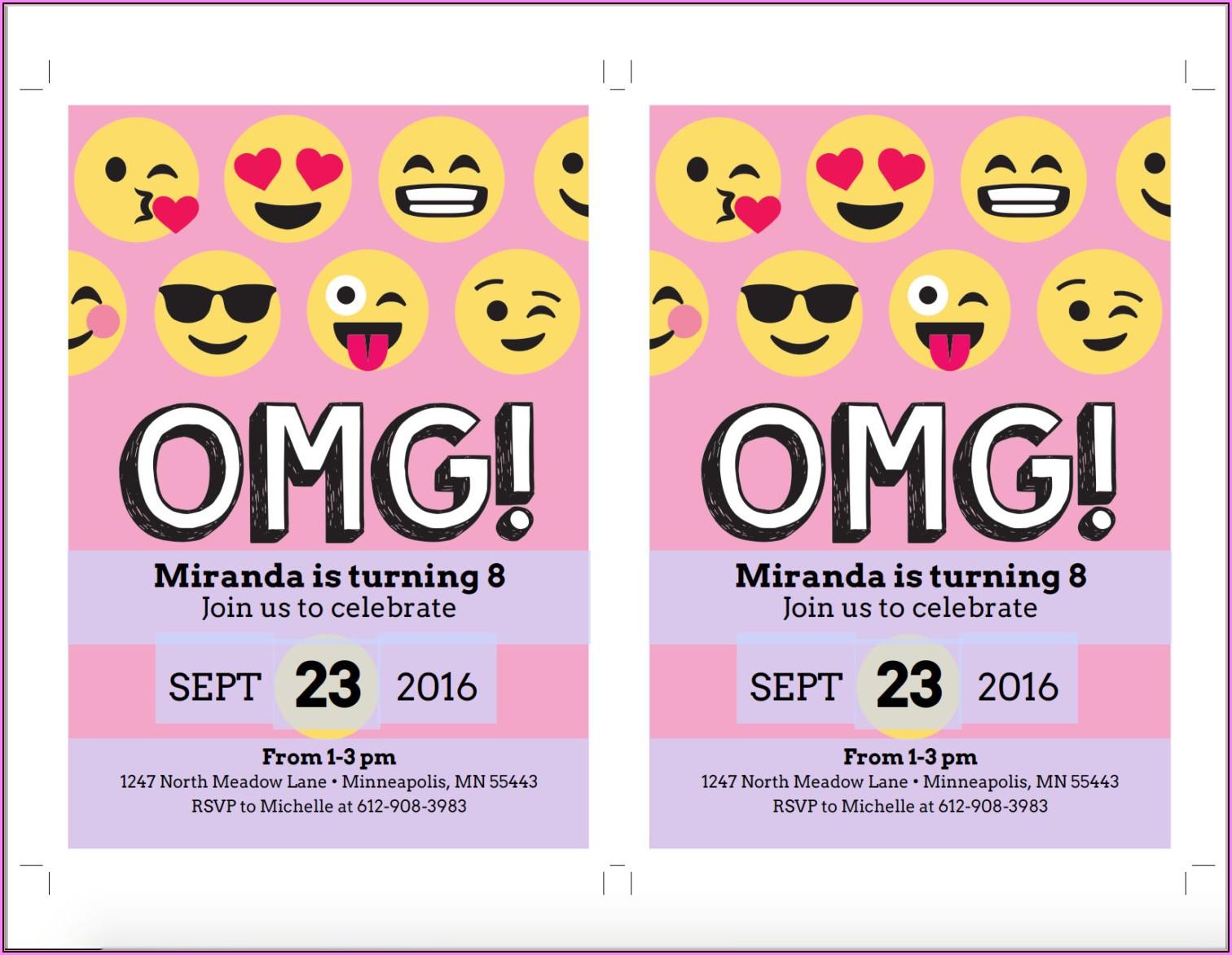 Emoji Birthday Invite Template