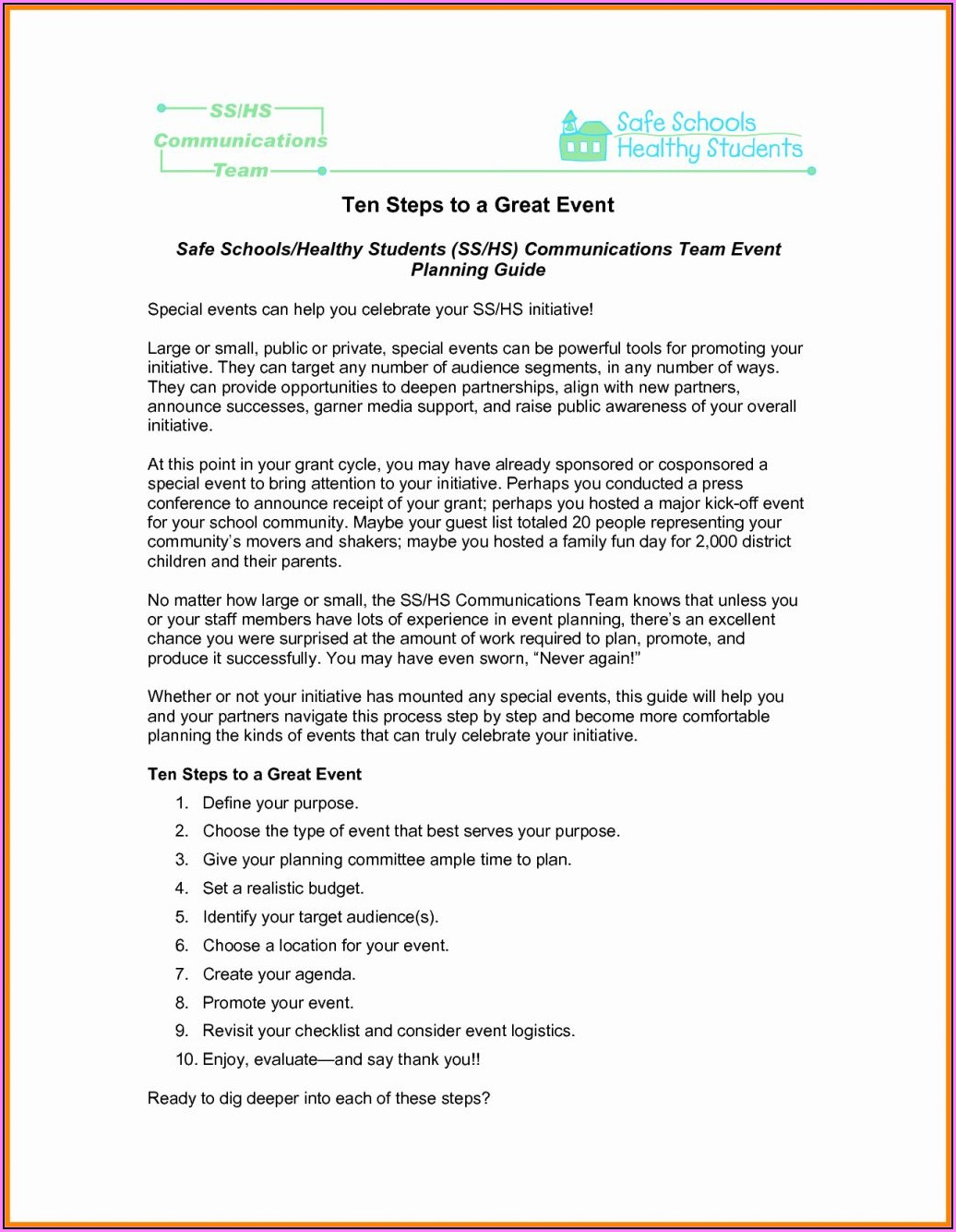 Event Planning Proposal Example